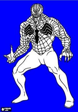 Venom para colorear dibujos, imágenes y láminas