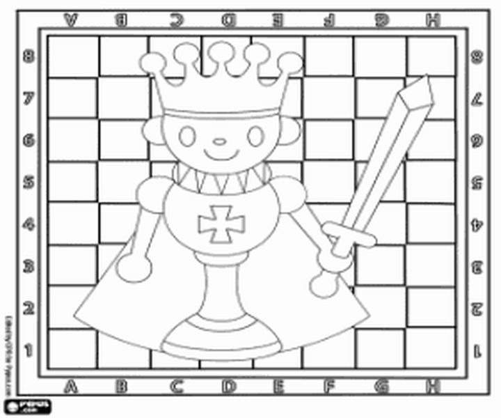 шахматы красивые картинки для раскрашивания модель выделяется только