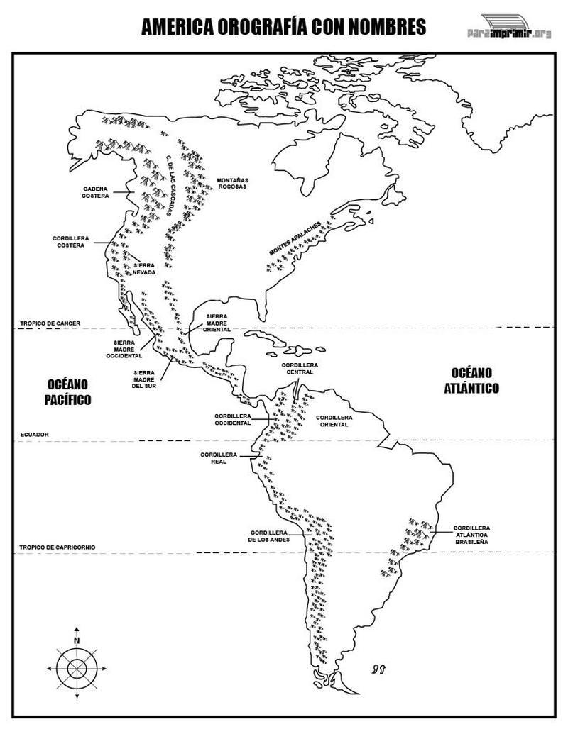 América Del Norte Para Colorear Dibujos Para Colorear E