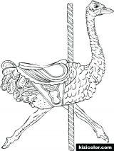 Avestruz para colorear (4/32)