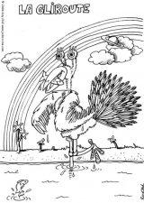 Avestruz para colorear (20/32)