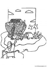 El arca de Noé para colorear (4/16)