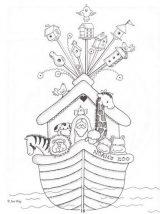 El arca de Noé para colorear (9/16)
