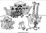 El arca de Noé para colorear (13/16)