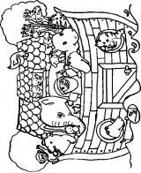Dibujos del arca de Noé para colorear (4/16)