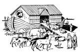 Dibujos de el arca de Noé para niños (1/23)