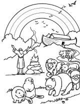 Dibujos de el arca de Noé para niños (13/23)
