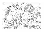 Dibujos de el arca de Noé para niños (14/23)