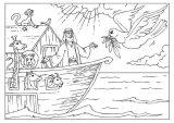 Dibujos de el arca de Noé para niños (21/23)