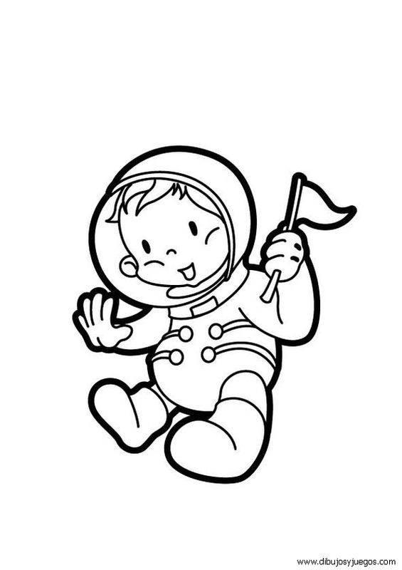 Astronauta para colorear | Dibujos para colorear e imprimir online
