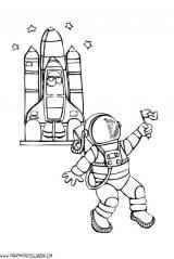 Astronauta para colorear (5/59)