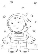 Astronauta para colorear (7/59)