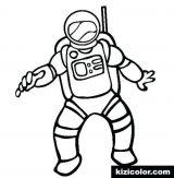 Astronauta para colorear (9/59)
