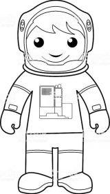 Astronauta para colorear (11/59)