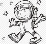 Astronauta para colorear (17/59)