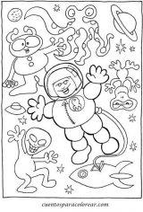 Astronauta para colorear (20/59)