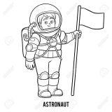 Astronauta para colorear (23/59)