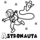 Astronauta para colorear (28/59)