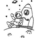 Astronauta para colorear (29/59)