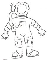 Astronauta para colorear (31/59)