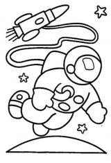 Astronauta para colorear (34/59)