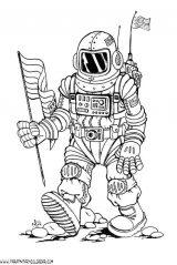 Astronauta para colorear (35/59)