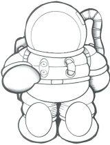 Astronauta para colorear (38/59)