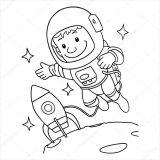 Astronauta para colorear (39/59)