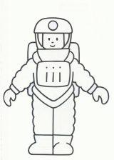Astronauta para colorear (40/59)