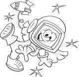 Astronauta para colorear (41/59)