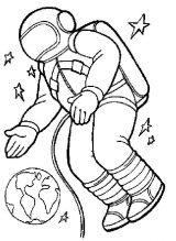 Astronauta para colorear (43/59)