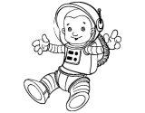Astronauta para colorear (44/59)