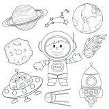 Astronauta para colorear (45/59)