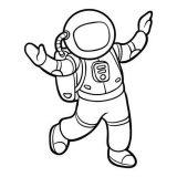 Astronauta para colorear (46/59)