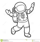 Astronauta para colorear (47/59)