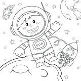 Astronauta para colorear (49/59)