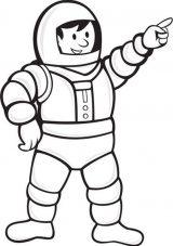 Astronauta para colorear (53/59)
