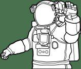 Astronauta para colorear (54/59)