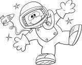 Astronauta para colorear (56/59)