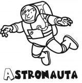Astronauta para colorear (57/59)