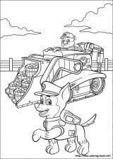Paw Patrol: Chase para colorear (2/8)