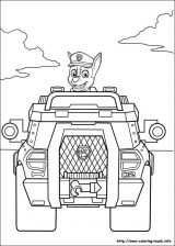Paw Patrol: Chase para colorear (7/8)
