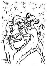 El rey león para colorear (8/24)