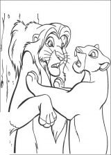 El rey león para colorear (23/24)