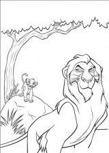Imágenes de el rey león para colorear (8/24)
