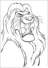Imágenes de el rey león para colorear (12/24)