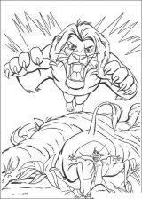 Imágenes de el rey león para colorear (15/24)