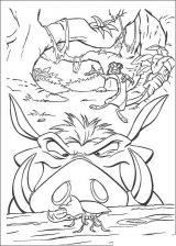 Imágenes de el rey león para colorear (18/24)