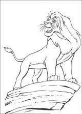 Imágenes de el rey león para colorear (23/24)