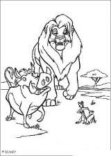 El rey león para colorear (1/12)